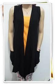Cardigan Termurah sleeveless cardigan cardigan kutungan bahan spandek rayon fit to l