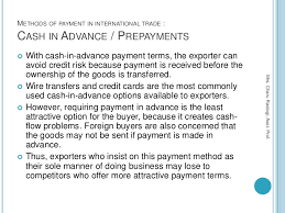 5 methods of payment in international trade export and import finance