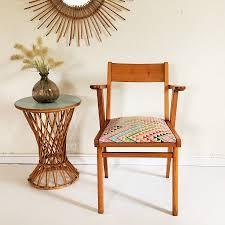vintage siege siege fauteuil bridge vintage bois tissus chouette fabrique 2
