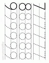number tracing worksheet for kindergarten readiness tracing