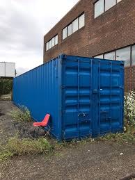 container for sale 40 foot shipping storage container blue steel