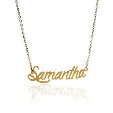 gold script name necklace aliexpress buy aoloshow script name women