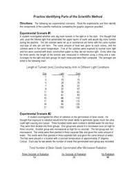 scientific method activity worksheet scientific method