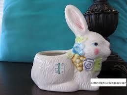 Rabbit Home Decor Easy Diy Pottery Barn Inspired Rabbit Setting For Four