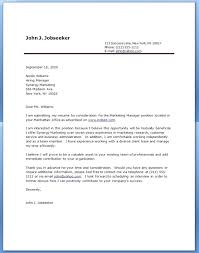 samples of cover letters for resume sample cover letter for a