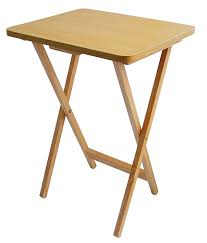 small sturdy folding table premier housewares folding snack table natural wood amazon co uk
