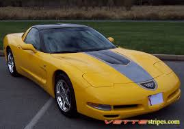 yellow corvette c5 c5 corvette gt1 stripes vettestripes com