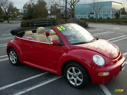 volkswagen beetle pink convertible 2005 volkswagen new beetle gls 1 8t convertible in tornado red