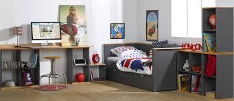 lit gigogne avec bureau lit gigogne gris anthracite et hêtre 80x200 cm