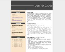 Resume Doc Template Resume Template Etsy