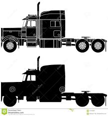 peterbilt semi trucks silhouette of a truck peterbilt 379 stock illustration image