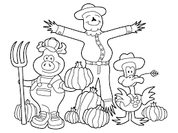wonderful scarecrow paper doll coloring page with scarecrow