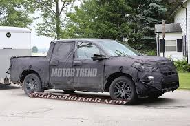 2016 honda ridgeline spied testing with a trailer