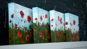 paintings to paint how to paint poppy flowers with acrylic paint and a palette knife