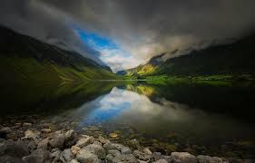 norway summer wallpapers photography landscape nature lake mountains dark clouds