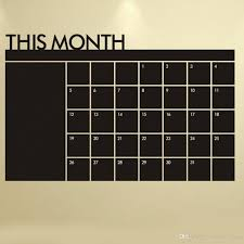 Chandelier Wall Decal Diy Monthly Chalkboard Calendar Vinyl Wall Decal Removable Planner