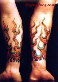 fire and flame tattoo design for both forearm tats pinterest