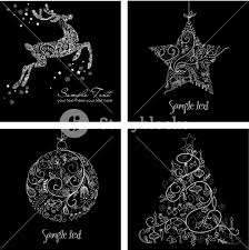 black christmas cards black and white christmas cards royalty free stock image storyblocks