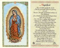 our of guadalupe holy card magnificat prayer