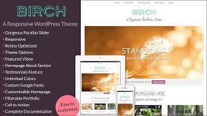 birch a responsive wordpress theme themes u0026 templates
