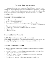 Business Letter Font by Kinds Of Business Letter The Letter Sample