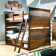bunk beds bunk bed with full on bottom twin over mounted ladder