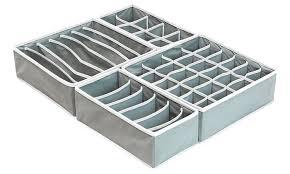 underwear organizer simplehouseware closet underwear organizer drawer divider 4 set