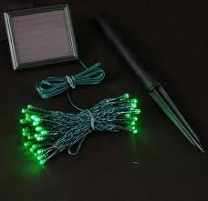 green led string lights green solar christmas lights with 50 bulbs novelty lights inc