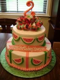 Watermelon Cake Decorating Ideas Super Cute Watermelon Birthday Cake Watermelon Birthday Party