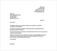 best ideas of printable format for a resignation letter sample for