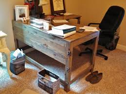 Home Office Wood Desk Industrial Rustic Fusion Reclaimed Wood Desk Industrial Home