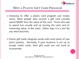 sale my gift card increase retail sales with a solid plastic gift card program