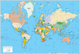 Labeled World Map by Vectorized Maps Digital Maps Increase Search Engine Traffic