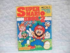 super mario bros book trapped perilous pit vintage 1989