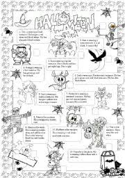 english teaching worksheets halloween party