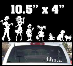 hunting truck decals funny stick family decals ebay