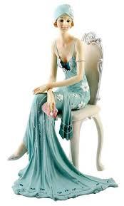 deco broadway belles figurine blue teal colour 79