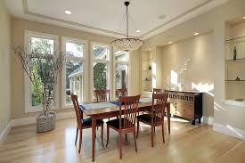 contemporary home with bright dining room in off white color