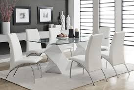 White Lacquer Dining Table - White modern dining room sets