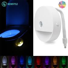 novelty led toilet night light 4 5v rgb bathroom led light motion