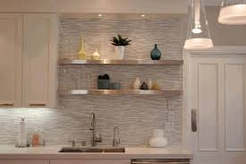 small tile backsplash in kitchen kitchen ideas backsplash yellow exposed shelves integrated yellow