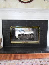 brick fireplaces painted part 27 dark grey painted fireplace
