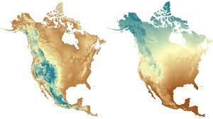 Altitude Map Of Usa by Land Facet Data For North America Adaptwest