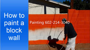 how to paint a cinder block wall youtube