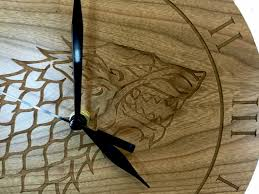 stark cherry wood clock