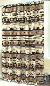 Cabin Shower Curtains Cabin Shower Curtain Mountain Moose And 5 Bath Set