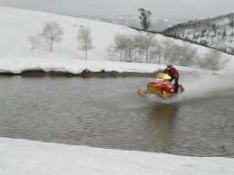 7trees motorbike motocross atv dirt massive snowmobile water crossing in georgian bay snowmobiles