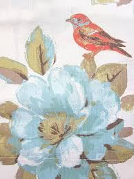 Large Pattern Curtains by Amazon Com Envogue Window Curtains Birds Large Flowers 50 By 96