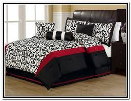 Red And White Comforter Sets Black And Red Bedroom Sets Interior Design