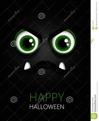 scary green eyes with halloween wishes stock illustration image